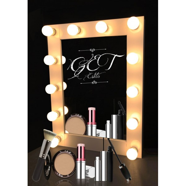 Hollywood Style Professional Makeup Mirror With Lights - Professional vanity mirror with lights